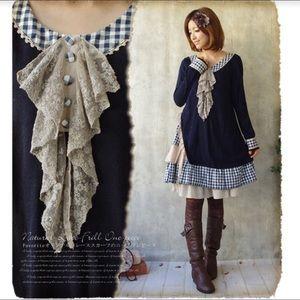 Mori Girl Lolita Knitted Loose Sweet Cotton Dress